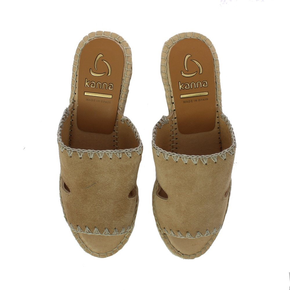 979600a2f1f Sand Mule Espadrille Wedge (Marked) - Size 37